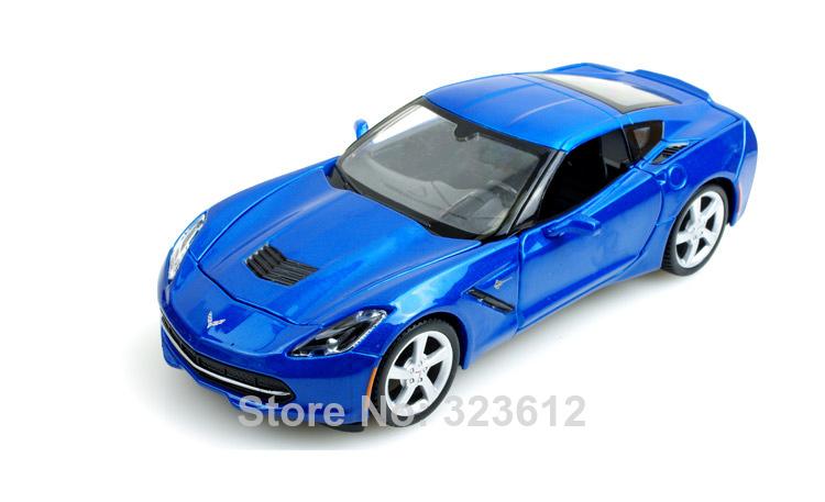 1:24 Chevrolet 2014 Corvette Stingray Coupe Alloy Diecast Vehicle car Model Blue B2195(China (Mainland))