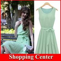 Freeshipping 2014 new women dress chiffon fashion dress tank top dress summer dress hot dropshipping