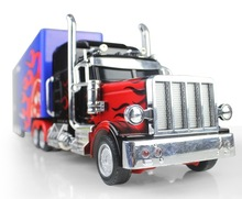 RC Truck Domineering US Truck High Simulate Remote Control Flames Truck Trailer with Detachable Container electronic