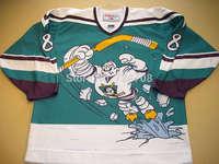 blank/Custom 1995-96 #8 Teemu Selanne Throwback Anaheim Mighty Ducks Wild Wing jersey  ICE Hockey Jersey  Number & Name