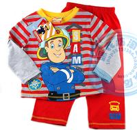 2014 New / Free shipping / fireman sam cotton clothing / clothing set / child clothing /  sam clothing