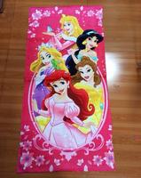 Free shipping hot sale 120*60cm 100% cotton 5 princesses children girl bath towel, beach towel, retail and wholesale