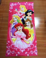 Free shipping hot sale 120*60cm 100% cotton 5 princesses children girl bath towel, beach towel, retail and wholesale