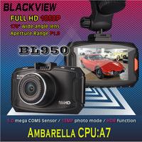 "NEW Blackview Car Camera Recorder BL950 Ambarella A7 Chipset DVR 1080P Full HD H.264 170 Degree Wide Angle 2.7"" LCD HDR H.264"