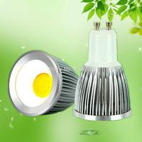 Free shipping 7W COB sotlights with base GU10/ MR16 /E27 12V 220V par16 ww/cw high brightness 90 degrees factory price