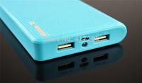 Fedex Free Universal External Battery Dual USB Output 20000mAh Power Bank Wallet Style Retail Box