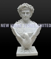 high quality famous sculptor hand carving roman bust sculpture