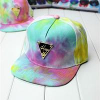 Hater snapback hat hip-hop along the gradient rainbow colored baseball cap hat  hat triangular blue sky