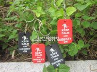 Keep Calm and Hockey on Dog Tag Keychain, Silicon Key Ring, Custom Design Dog Tag, Promotion Gift, 50pcs/Lot, Free Shipping