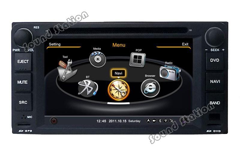 For Toyota Wish Hilux Prado Highlander Previa Fortuner Car DVD GPS Navigation Media Radio Audio Video Central Multimedia(China (Mainland))