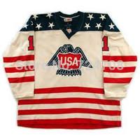 USA International Team Sports Jerseys Ice Hockey Customized Olympic Mans Jersey - Any Number & Name Sewn On (XXL-6XL)