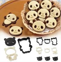 Panda Cartoon Chocolate Biscuit Cookies Baking Mold Cake Dessert Creative DIY Moulds Tools 1Set