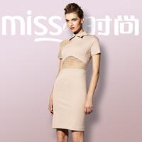 Victoria fashion lace slim one-piece dress 2014 new lady ol dress elegant collar short sleeve dress Hot brand