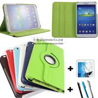 New Fanshion 360 Rotating PU Leather Case Cover For Samsung Galaxy Tab 3 8.0 inch T310 T311 T315 Tablet +Screen Protector+Stylus