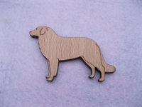 fashion design maremma dogs wooden brooches pin