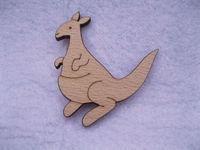 Australia cute style Kangaroo wood brooches pin
