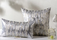 hsxl01,45*45/30*50 cm, Mosaic silver pillows geometric abstract creative sofa cushion waist pillow cases