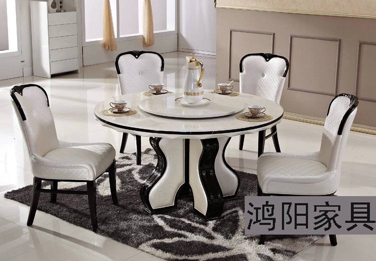 ikea white marble dining table round table turntable solid wood dining table. Black Bedroom Furniture Sets. Home Design Ideas