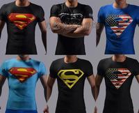 Free shipping Jesus superman men quick dry t shirts male short-sleeve sport t-shirt