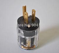 New Brass P-029 Transparent US Power Plug P029 power cord connectors