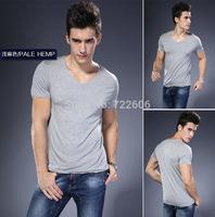 2014 New plus size men tops 4xl 5xl 6xl t shirt new  plain color la cotton  t shirt male casual shirt camisa undershirt thin