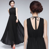 2014Details about New Womens Summer Fashion Long Chiffon Evening Prom Party Gown Sun Dress