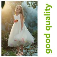 flower girl dress in 2014 summer Princess party kid dress 1pcs retail