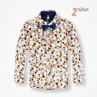 New arrvial 2014 Autumn kids boys Brand fashion cartoon Micky print shirts 2-10 years old boys