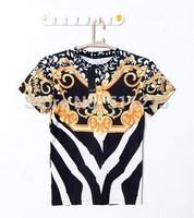 Fashion 2014 New men/women 3D print GIV vintage retro summer casual t shirts Bandanna Stripe Religion brand Galaxy Print Top