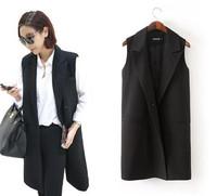 2014 autumn winter original new women's solid office suit blazer long solid suits jacket for women desigual brand ladies blaser