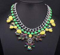 Popular European Brand Flower Necklace Multilayer Luxury Rhinestone Women's Flower Necklace L0307