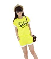 Women's 2014 summer sportswear fashion sports set casual shorts set summer t-shirt