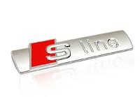 Genuine Sline S Line Emblem Car Trunk Badge ABS Matte Side Sticker For A4 Q5 A4L A5 A6L S1 S3 S4 S5 S6 RS RS1 RS3 RS4 RS5 RS6