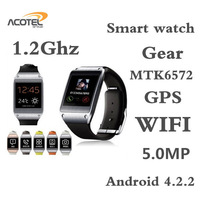 Best Sale gear S5 Bluetooth WIfi Gps Smart Watch MTK6572  CPU 1.2GHz  Android 4.2  Mobile phone assistant Smart Watch WristWatch