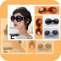 Free Shipping 1 PCS Fashionable Retro Inspired Round Women's Sunglasses Unisex Designer Lady Gaga Style Super Round/Sunglass-19