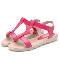 New 2014 summer women sandal flat sandals for women genuine leather shoes ladies sandalias