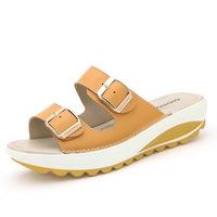 New 2014 women sandals beach summer sandals platform sandals women genuine leather shoes women's Sandalias