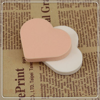 natural latex heart wet and dry dual-use powder puff   HF01  free  shipping