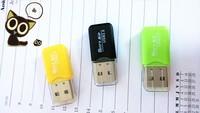 Free Shipping  USB 2.0 Micro SD T-Flash TF Memory Card Reader adapter cooler adapter