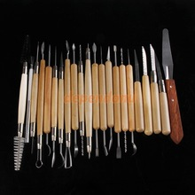 22pcs Stainless Steel and Wooden Handle Clay Pottery Sculpture Tool New