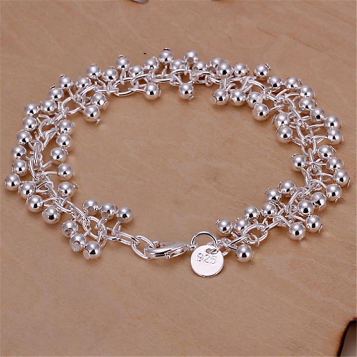 product Bracelets Bangles Sterling Silver Bracelets DIY Bracelet Light Grapes Creativity Is Small Adorn Article