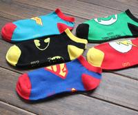 2014 tide DC Superman Batman socks socks boat socks US Salvation hero. Free shipping