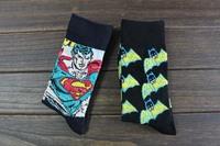 New 2014 DC Comics US hero Superman Batman series of short socks. Free shipping
