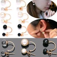 1 Pair 2014 New Korean Fashion Crystal Rhinestone Earring Jewelry Ear Stud Earrings For Women