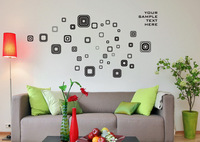 2014 New Best Selling 3d Home Decoration! Black wall Stickers diy unique Gift! Wallpaper free Shipping!
