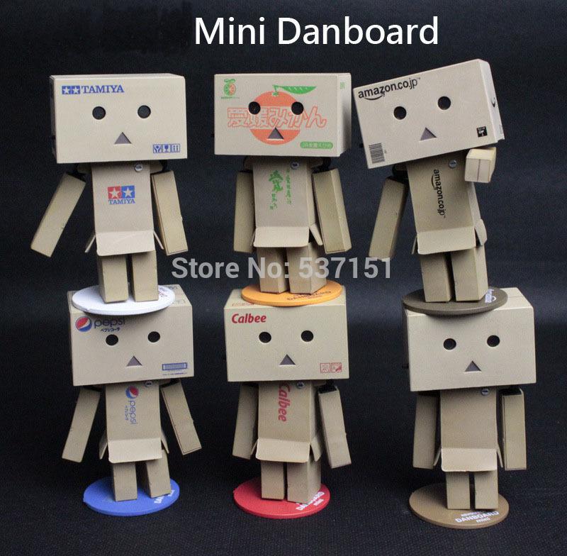 2014 New Kids' gift Animation Cooperation type cartoon Mini small business A corrugated PVC version doll Eye light Free Shipping(China (Mainland))