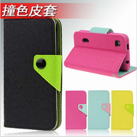 For ZTE Blade 3 III ZTE V889M Case,New novel CONTRAST COLOR Cute PU Wallet Leather Cover case For ZTE Blade 3 III ZTE V889M