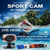 Waterproof Under Water Action Camera Full HD 1080P DVR Sport DV 1080P Helmet Camera 2.0 inch  Motor Mini DV 120 Wide Angle HDMI