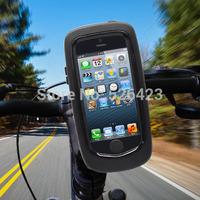 Bike Motorcycle Handlebar Mount Holder Waterproof Cover Case For iPhone 5 5S