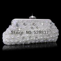 Women pearl evening bags clutch bags lace crystal wedding evening bag and handbag diamond small purse bag shoulder bags
